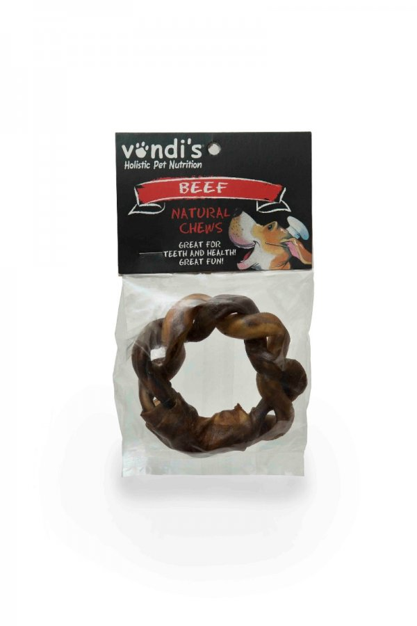 Rawhide Twisted Ring - A long-lasting hard chew-124