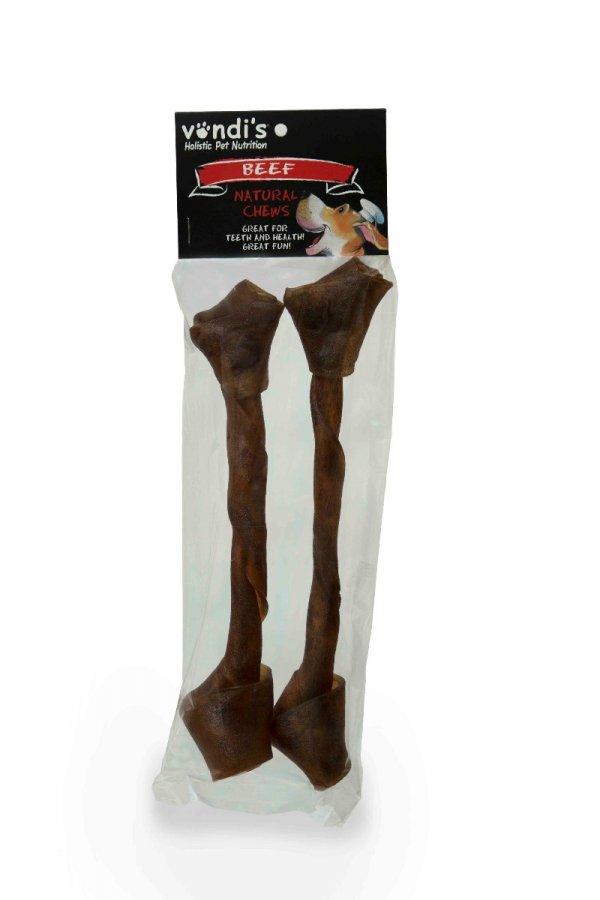 Game Rawhide Wriggle Bone Large - A long-lasting hard chew-126
