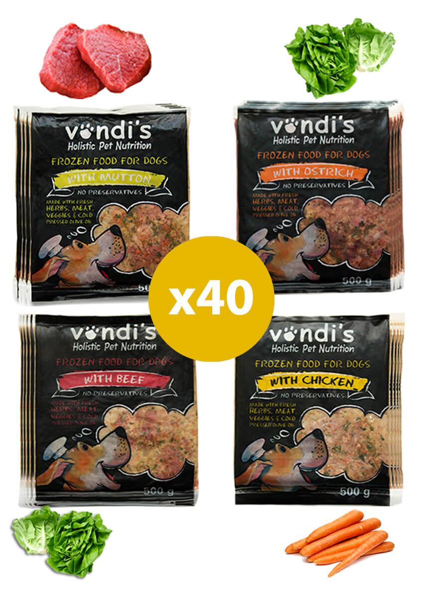Vondi's Dog Food Variety Value Pack-0